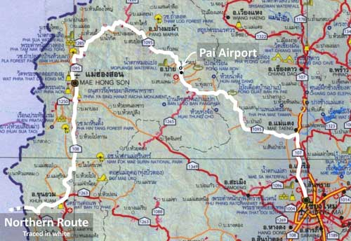 pai airport location map
