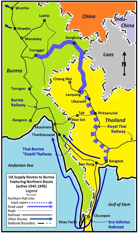 Japan in northwest thailand during world war 2 map nern rte blued gumiabroncs Gallery